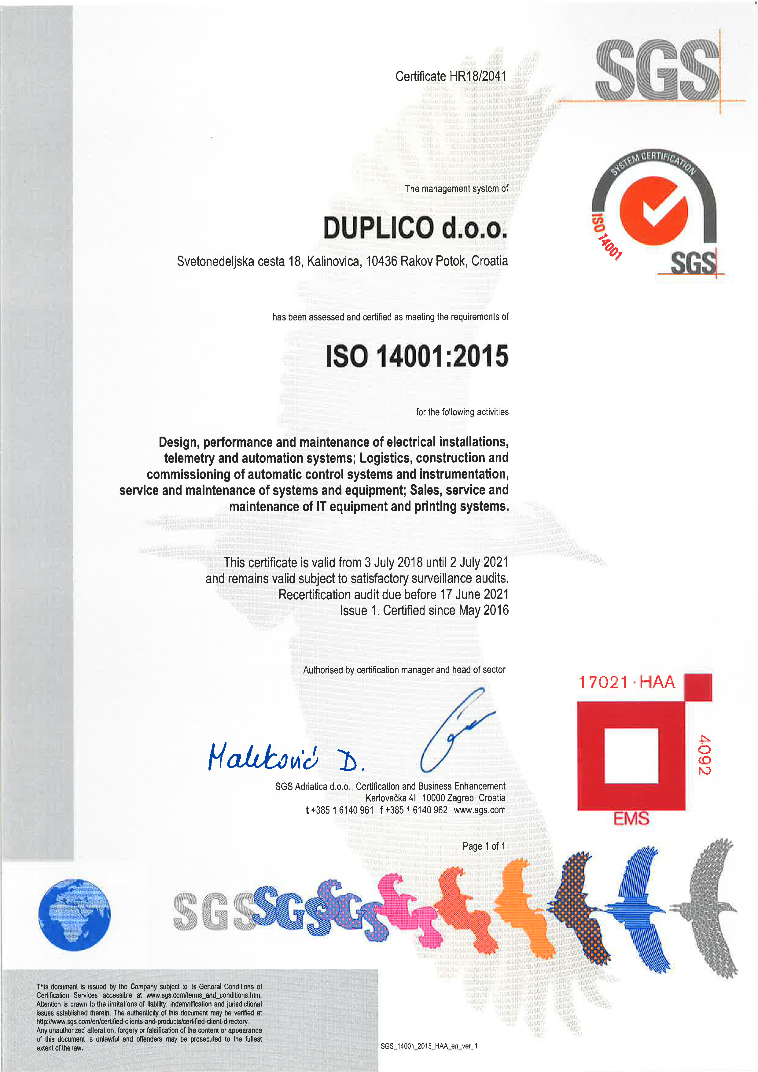 Quality Policy – Duplico
